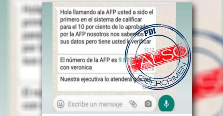 Alerta por ciberestafas sobre retiro del 10% de AFP